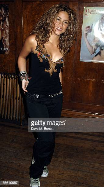 Colombian pop star Shakira attends the launch party for her forthcoming album Oral Fixation Vol 2 at Porchester Hall on January 17 2006 in London...