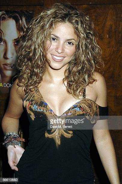 Colombian pop star Shakira attends the launch party for her forthcoming album 'Oral Fixation Vol 2' at Porchester Hall on January 17 2006 in London...