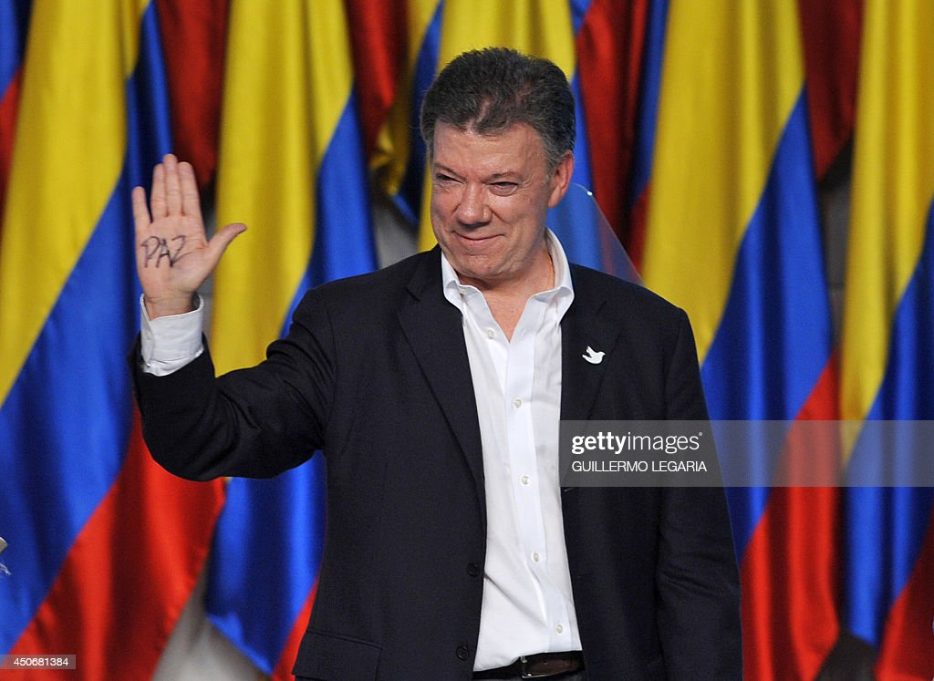 COLOMBIA-ELECTION-RUNOFF-RESULTS-SANTOS : News Photo
