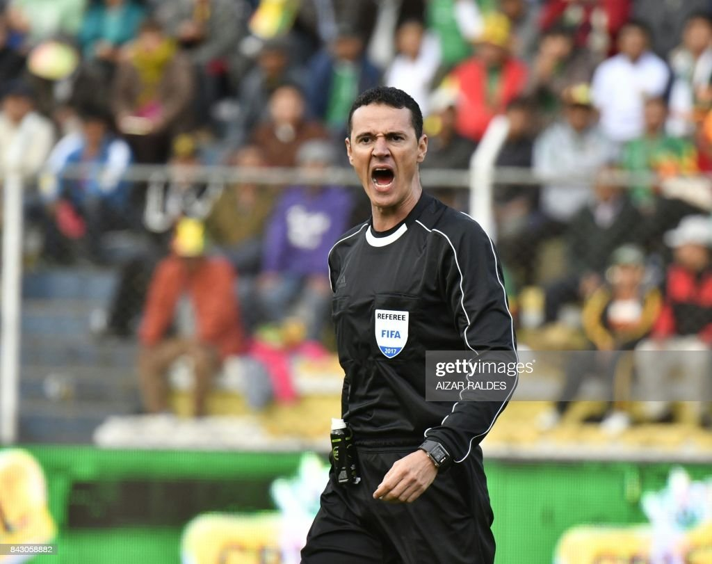 Amazing Chile World Cup 2018 - colombian-referee-wilmar-roldan-gestures-during-the-2018-world-cup-picture-id843058882  You Should Have_139820 .com/photos/colombian-referee-wilmar-roldan-gestures-during-the-2018-world-cup-picture-id843058882