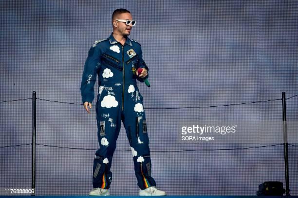Colombian reggaeton singer, José Álvaro Osorio Balvín known artistically as J Balvin, performs at a sold out show in Toronto.