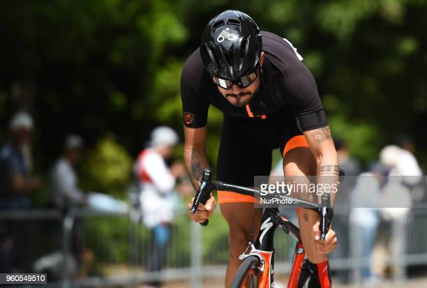 Colombian rider Felix Alejandro Baron Castillo from Team Illuminate during the opening stage 26km Individual Time Trial in Daisen Park Sakai On...