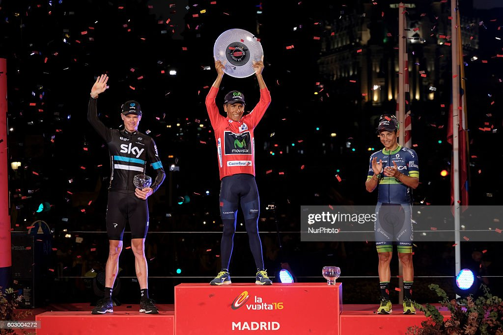 Podium of the Vuelta of Spain 2016 : ニュース写真