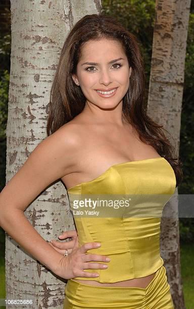 Colombian Singer and Actress Danna Garcia Promotes Soap Opera Pasion de Gavilanes, at Antena 3 TV Studios, in Madrid