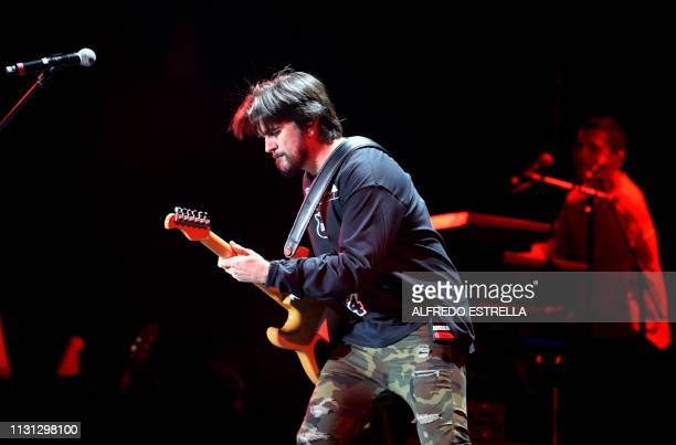 Colombian singer and composer Juanes performs during the second day of the 'Vive Latino' music festival in Mexico City on March 17 2019