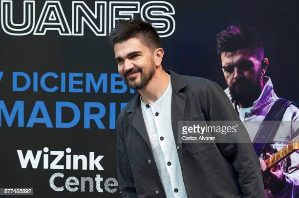 Colombian singer Juanes presents his next concert in Madrid at the Colombian embassy on November 22 2017 in Madrid Spain
