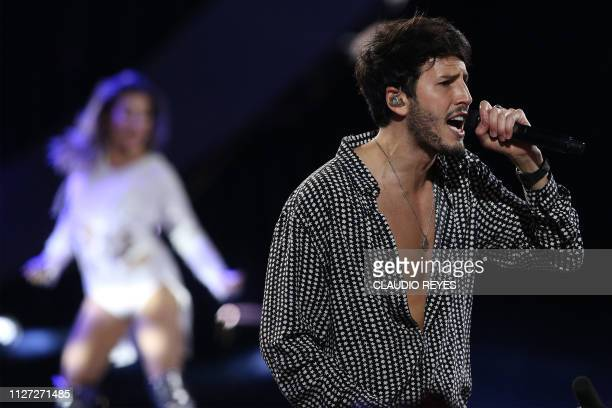 Colombian singer Sebastian Yatra performs during the 60th Vina del Mar International Song Festival on February 24 2019 in Vina del Mar Chile