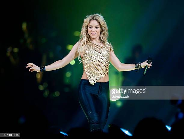 Colombian singer Shakira peforms live during a concert at the O2 World on December 9, 2010 in Berlin, Germany. The concert is part of the The Sun...