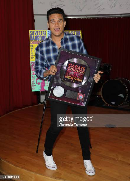 Colombian singer Silvestre Dangond visits the Sony Music Latin offices to announce his 'Caliente Tour 2018' for the United States and to receive...