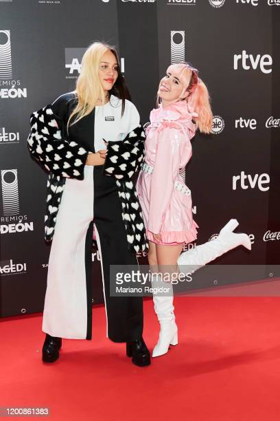 Colombian singers Laura Ocampo and Laura Pardo from Kexxy Pardo attends Odeon Awards 2020 at Royal Theater on January 20 2020 in Madrid Spain