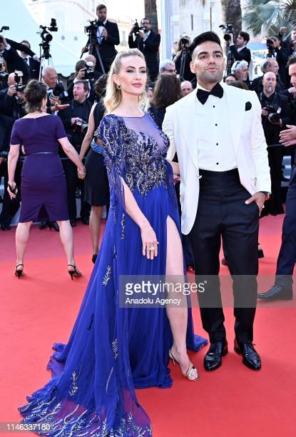 Colombian soccer player Radamel Falcao and his wife Lorelei Taron arrive for the Closing Awards Ceremony of the 72nd annual Cannes Film Festival in...