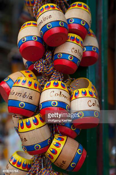 Colombian souvenirs for sale at the pilgrim church on Monserrate Hill Bogota Colombia