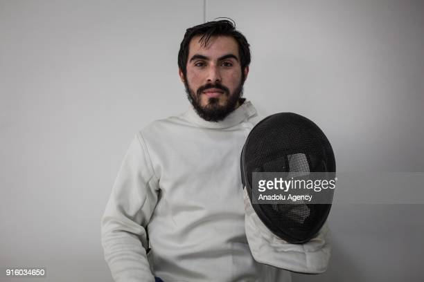 Colombian veteran Bryan Macias Exmember of the Colombian police victim of the Colombian Conflict who is part of the wheelchair fencing team of...