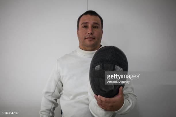 Colombian veteran Juan Guillermo Cortez Exmember of the Colombian police victim of the Colombian Conflict who is part of the wheelchair fencing team...