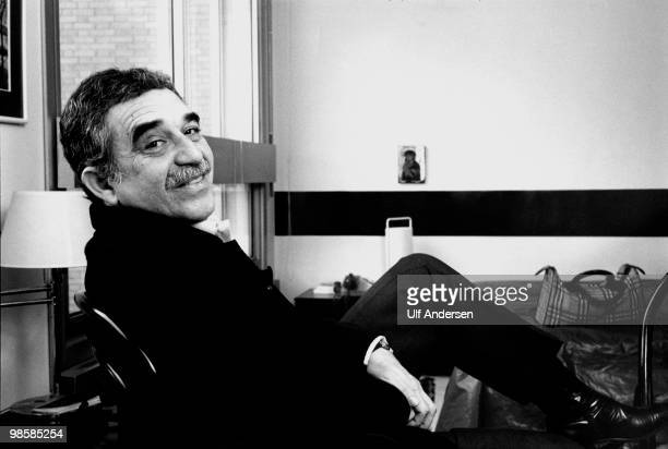 Colombian writer and Nobel prize in literature winner Gabriel Garcia Marquez poses for a portrait session on January 271982 in ParisFrance