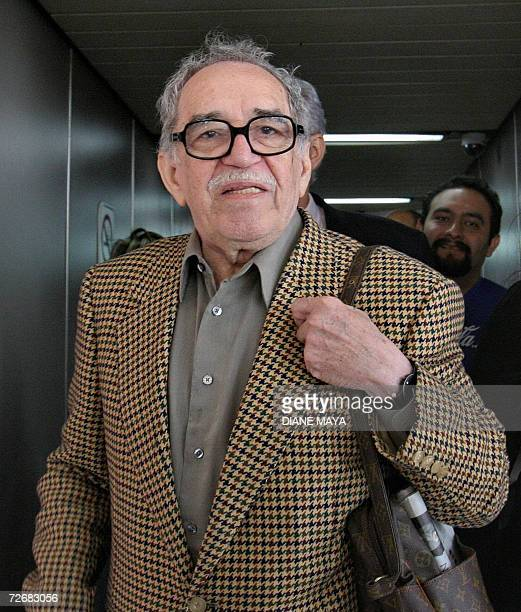 Colombian writer Gabriel Garcia Marquez arrives at Havana's Jose Marti international airport on November 30th 2006 Garcia Marquez is in Cuba to take...