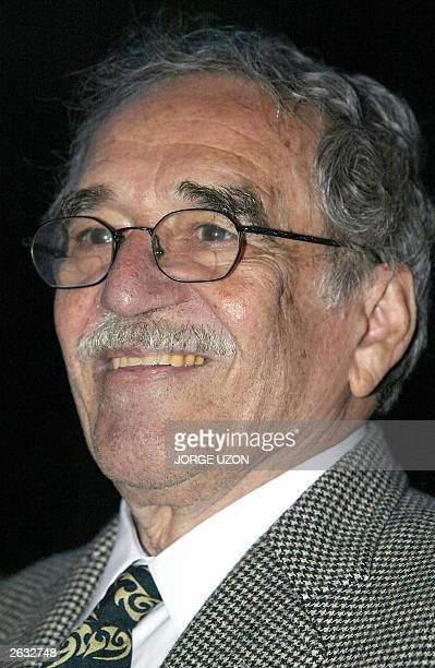 Colombian writer Gabriel Garcia Marquez is seen during the ceremony in which his Mexican colleague Carlos Fuentes was decorated by French Ambassador...