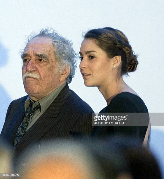 Colombian writer Gabriel Garcia Marquez listens during the opening of the Soumaya Museum in Mexico City on March 1 2011 The Museo Soumaya will house...