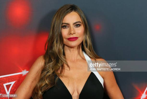 """Colombian-American actress Sofia Vergara arrives for the """"America's Got Talent"""" live show at the Dolby theatre in Hollywood, California, August 17,..."""