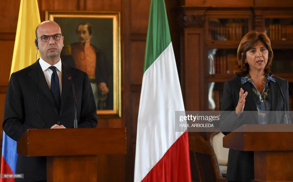 COLOMBIA-ITALY-POLITICS : Foto di attualità