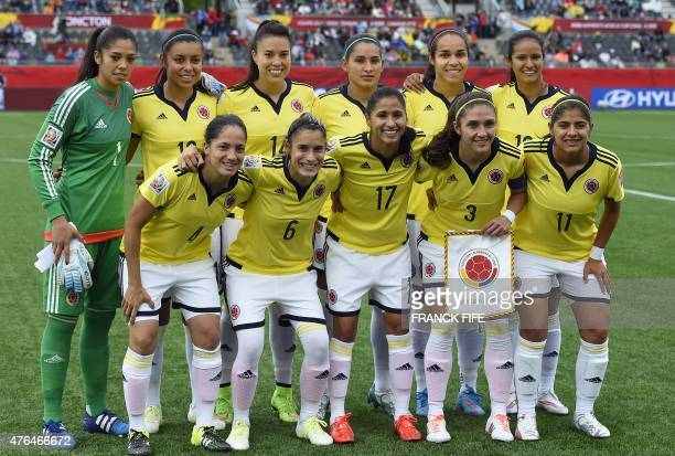 Colombia's goalkeeper Stefany Castano Colombia's midfielder Yoreli RinconColombia's midfielder Orianica Velasquez Colombia's forward Lady Andrade...