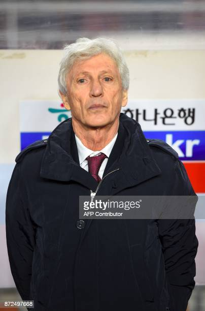 Colombia's head coach Jose Pekerman is seen before a friendly football match between South Korea and Colombia in Suwon on November 10 2017 / AFP...