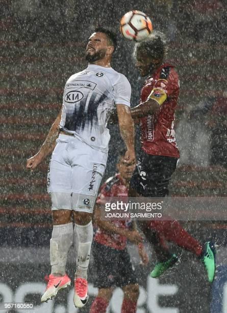 Colombia«s Independiente Medellin Didier Moreno vies for the ball with Paraguay's Sol de America Claudio Correa during their 2018 Copa Suramericana...