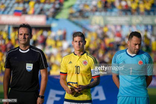 Colombia´s James Rodríguez during friendly match played at the Coliseum Stadium Alfonso Perez Getafe Tuesday June 13 2017