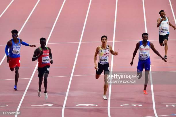 Colombia's Jhon Alejandro Perlaza, Kenya's Emmanuel Kipkurui Korir, Belgium's Jonathan Sacoor, Britain's Rabah Yousif and Iraq's Taha Hussein Yaseen...