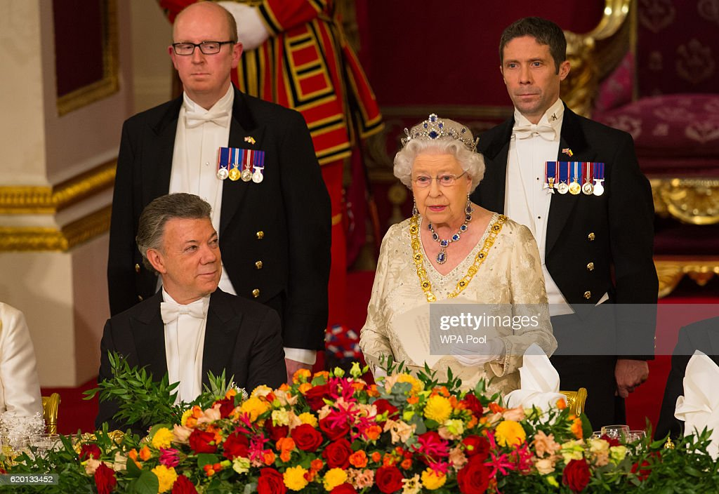 State Banquet Held In Honour Of President Santos Of Colombia And Mrs Santos : News Photo
