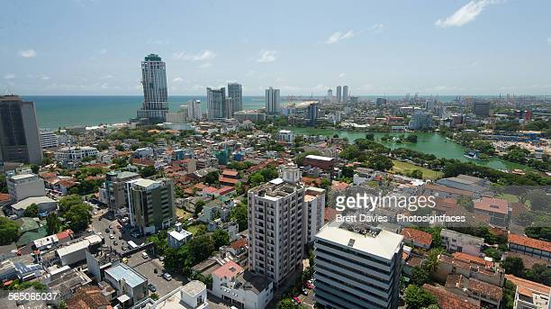 Colombo city view to the sea