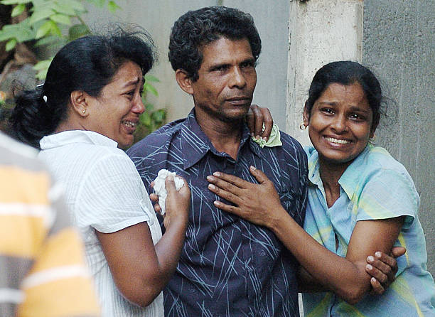 Relatives Of Sailor Tpc Kumara Weep N Pictures Getty Images