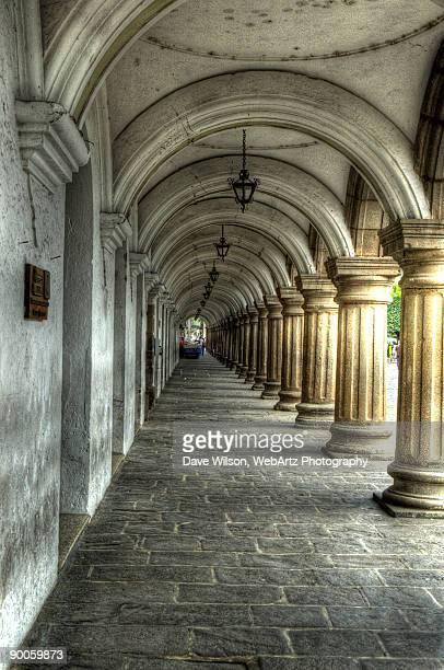 """colonade of the """"palacio de los capitanes generale - dave wilson webartz stock pictures, royalty-free photos & images"""