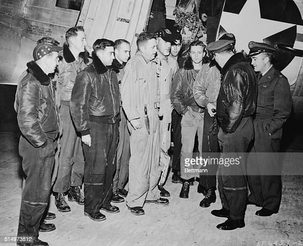 Colonel Albert Welshgn Commander of the 6007th Reconnaissance Group and Lt Col Raymond E Gandy Commander of the 91st Strategic Reconnaissance...