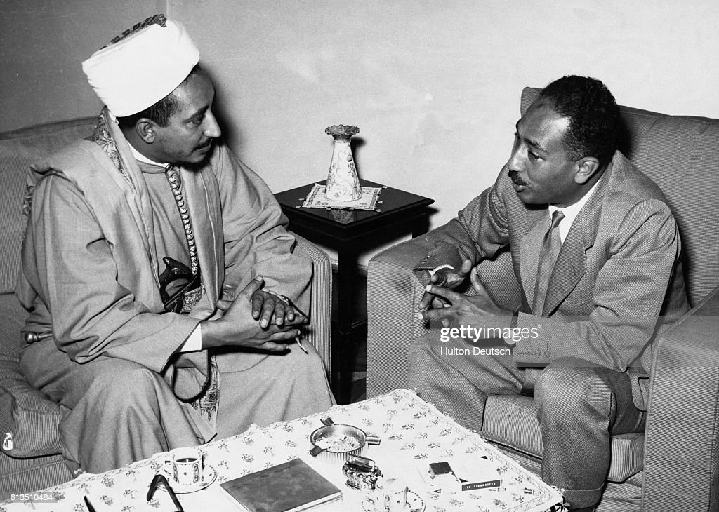 Sadat Meets Muslim Leaders : News Photo