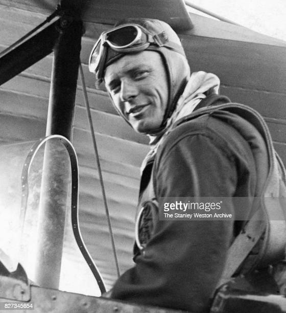 Colonel Charles Lindbergh flys secretary's amphibian plane from Bolling Field Washington DC circa 1930