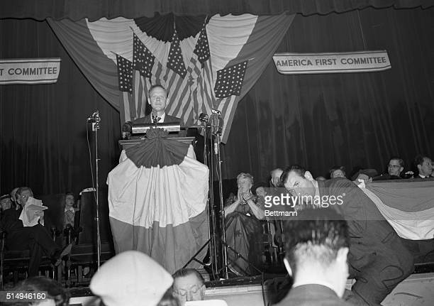 Colonel Charles Lindbergh speaking at America First Rally