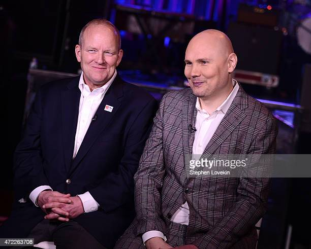 Colonel David W Sutherland and Billy Corgan of The Smashing Pumpkins arrive as Live Nation Celebrates National Concert Day At Their 2015 Summer...