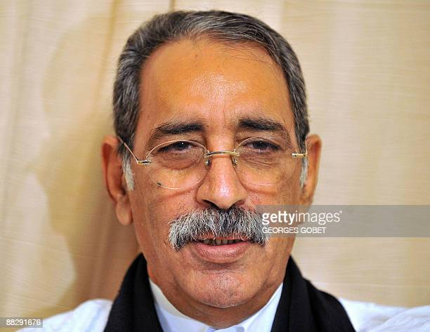 Colonel Ely Ould Mohamed Vall former head of a military junta who ruled Mauritania from 2005 until 2007 is pictured on June 6 2009 the day on which...