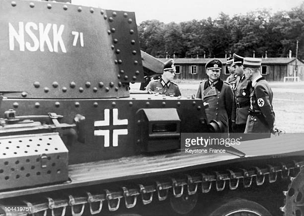 Colonel General Heinz Guderian Inspecting The New Equipment Of The Nskk In Fact Following The Defeat At Stalingrad And The Events Of North Africa...
