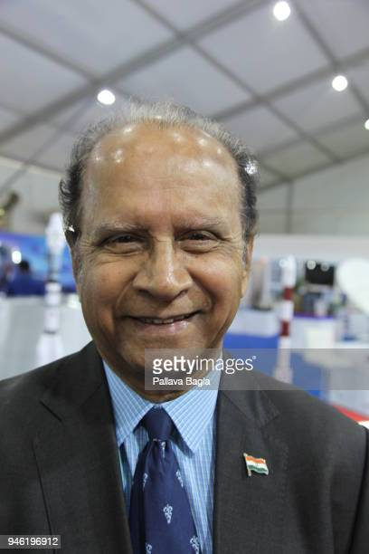 Colonel H S Shankar poses at DEFEXPO 2018 on April 12 2018 in Chennai India Colonel H S Shankar has a lineage from defence public sector undertakings...