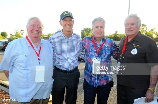 Colonel Joe Kittinger Florida Governor Rick Scott Westgate Resorts COO Mark Waltrip and Westgate Resorts CEO David Siegel pose during the Westgate...