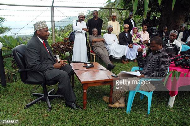 Colonel Mohamed Bacar speaks to journalists on February 15 2008 in the Comoran island of Anjouan The African Union extended on February 19 2008 by...