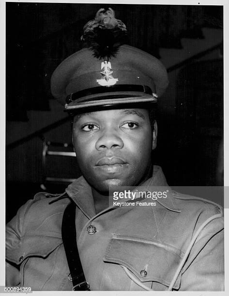 Colonel Odumegwu Ojukwu Governor of East Nigeria wearing military uniform circa 1966