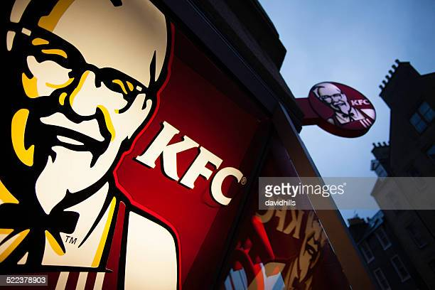 colonel sanders and kfc - kentucky fried chicken stock photos and pictures