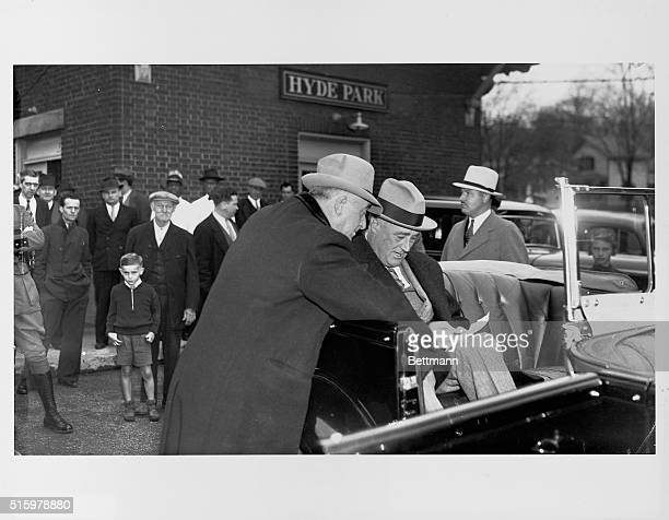 Colonel Starling makes all arrangements for Roosevelt's safety during travel from one state to another   Location Hyde Park New York USA