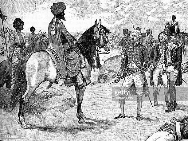 Colonel William Bailie 's surrender to Hyder Ali ruler of Mysore South India 1780 HA forced Bailie's surrender at Battle of Pollilur after...