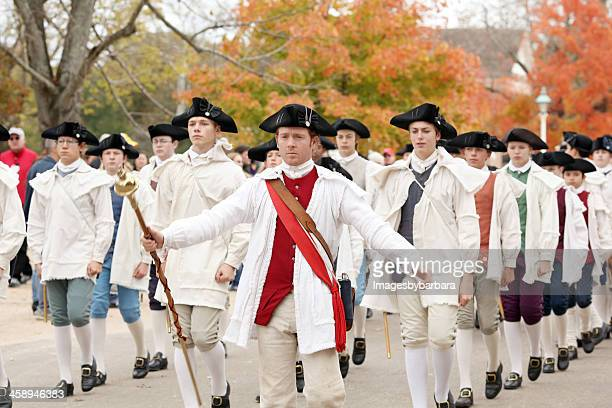 colonial army - colonial williamsburg stock photos and pictures