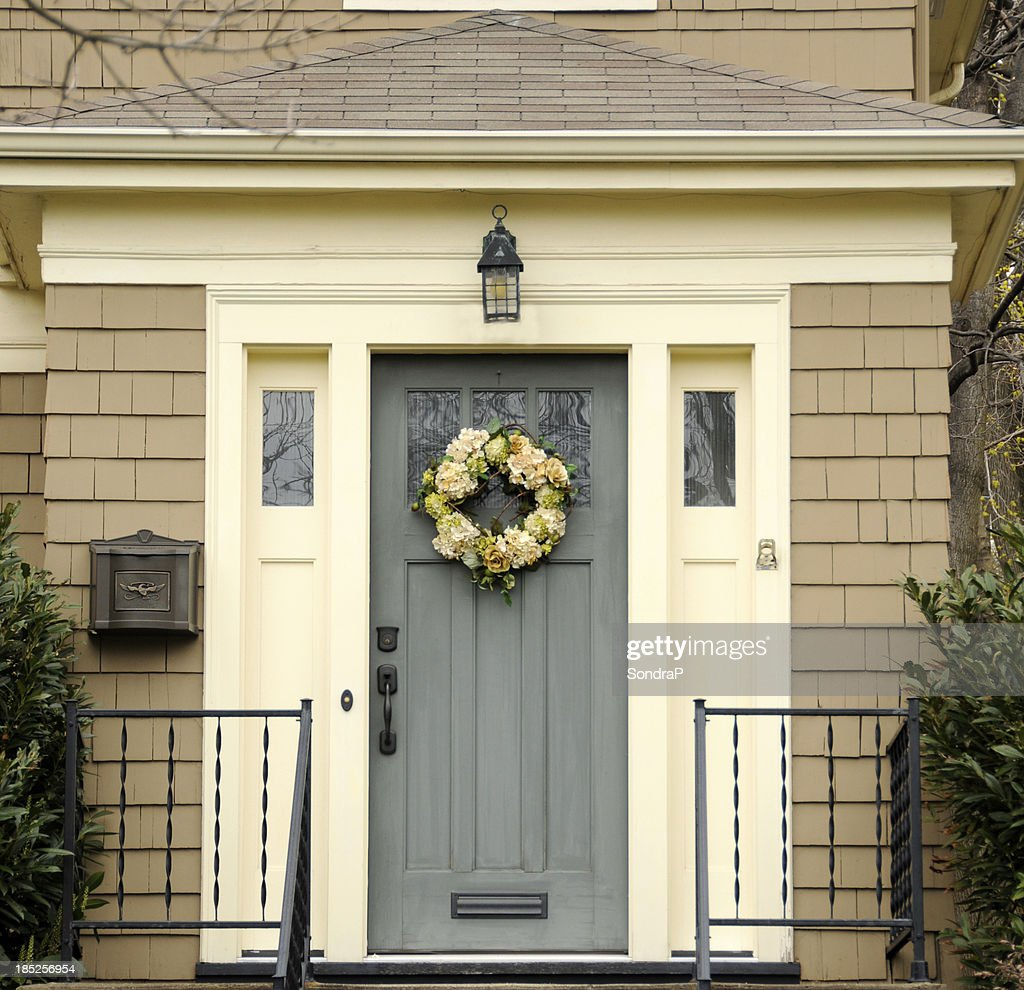 Colonial Blue Door Stock Photo | Getty Images