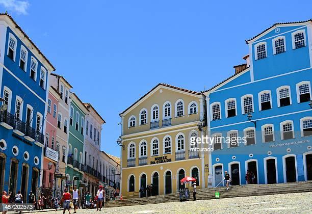 colonial brasil - salvador da bahia - pillory stock photos and pictures